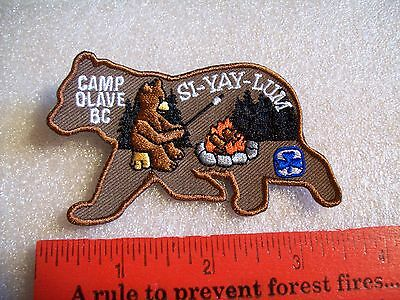 Canadian Girl Guides  Badge/Patch SI-YAY-LUM Camp Olave BC