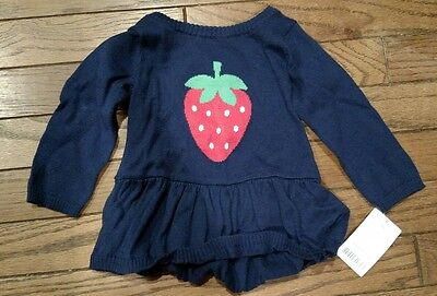 NWT Carters 6 Months Strawberry on blue sweater