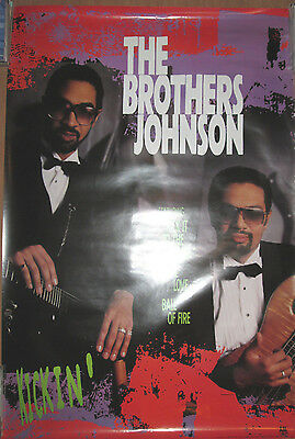 BROTHERS JOHNSON Kickin', A&M promotional poster, 1988, 24x36, VG+!