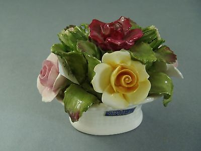 Aynsley 10/10 Floral Vase Bone China Made In England