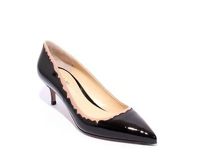 b62b54582c Nando Muzi 147f Black / Beige Patent Leather Pointy Pumps 37.5 / US 7.5