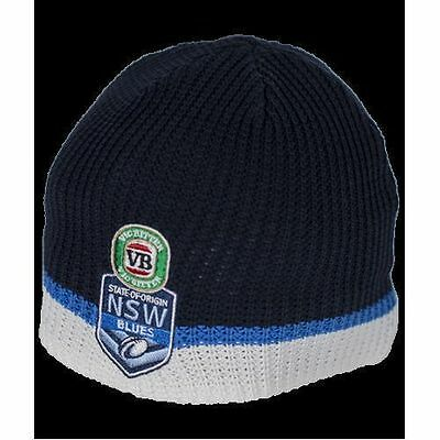 Official NRL State of Origin New South Wales NSW Blues Sports Knit Beanie