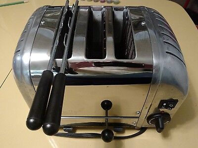Dualit Model 31116 Chrome Toaster made in England panini sandwich combi 2 + 1