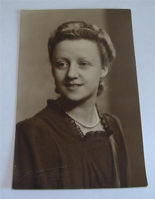 REAL PHOTO POSTCARD OF YOUNG LADY c 1930-40 NORMAN MARSON CONGLETON   54