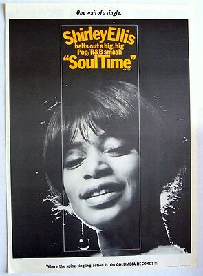 SHIRLEY ELLIS 1967 Poster Ad SOUL TIME