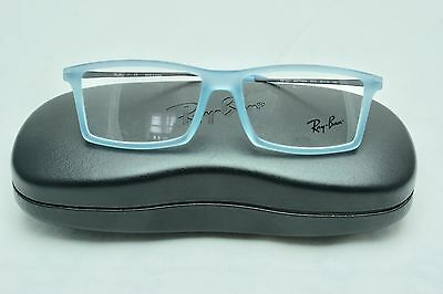 Ray Ban RB7021 Matthew 5370 Light Baby Blue Rubber Ice Frames 52/14 140