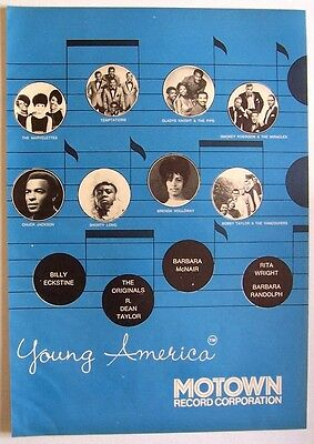 MOTOWN 1968 Poster Ad TEMPTATIONS GLADYS KNIGHT MARVELETTES young america