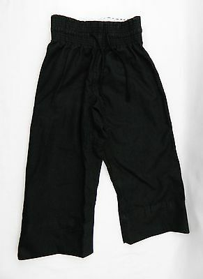 Size 1 One Youth Kids Karate Pants Uniform Century Black Martial Arts Taekwondo