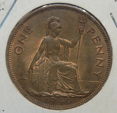 Great Britain 1940 1 Penny Coin - High Grade