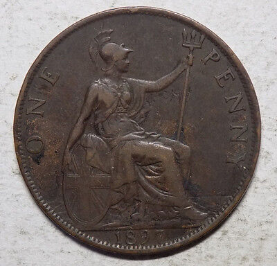 Great Britain 1897 1 Penny Coin