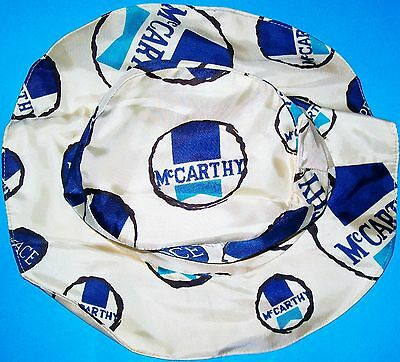 Vintage 1968 Eugene Mccarthy Presidential Political Campaign Floppy Peace Hat