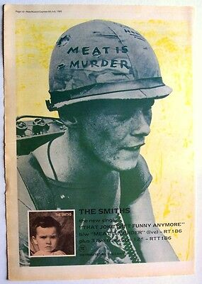 THE SMITHS 1985 Poster Ad MEAT IS MURDER THAT JOKE ISN'T FUNNY ANYMORE
