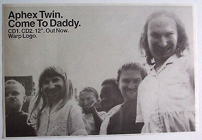 APHEX TWIN 1997 original Advert COME TO DADDY warp