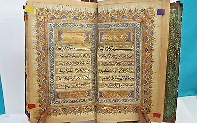 Antique Quran With Persian Translate Hand Writting & Painted By Boghishah Gilany