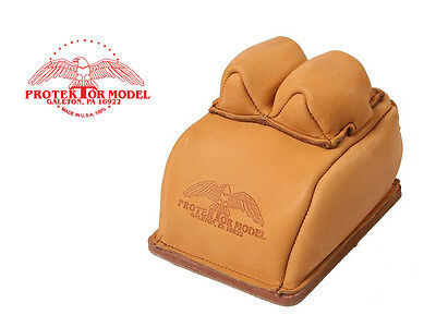 Protektor Model - #14Bf Bunny Ear Rear Rest Leather Sand Bag - Made In Usa 100%