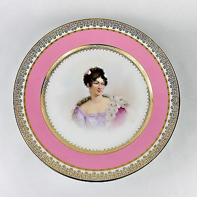Antique Sevres Hand-Painted Portrait Plate signed Mozin