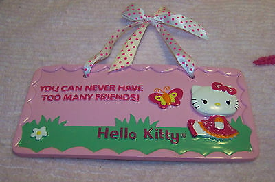 Hello Kitty by Sanrio Pink Friends Wall Decor Sign    Sweet & Oh, So Cute!