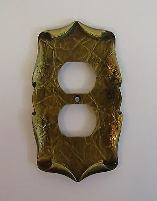 *** Vintage Amerock Carriage House Antique Brass Finish Outlet Cover ***