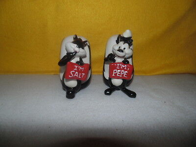 Warner Brothers Pepe' Le Pew & Penelope Salt & Pepper Shakers