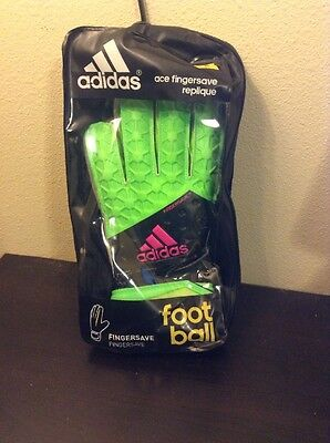 Adidas Soccer Goalie Ace Fingersave Replique Gloves Size 8 Brand New