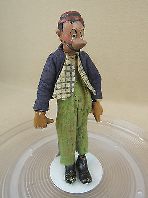 Antique Bucherer Swiss Composition & Metal Jointed Comic Doll Figure