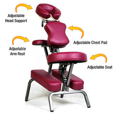 Portable Foldable Steel Massage Chair W/bag -Spa/tattoo