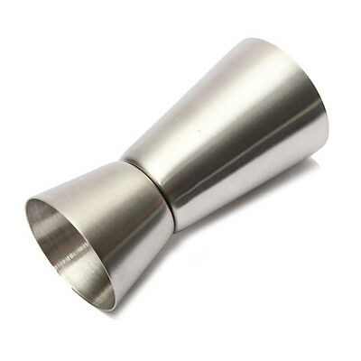 Bar Craft Stainless Steel Dual Spirit Measure Cup Perfect Single & Double Useful