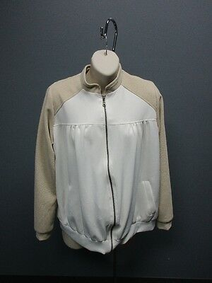 IMANIMO White Tan Long Sleeves Zip Up Sample Maternity Jacket NWT Sz S SM12101