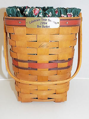 "LN 1994 Longaberger ""Celebrate Your Success"" Bee Basket Combo, David Signed"