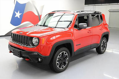 2016 Jeep Renegade Trailhawk Sport Utility 4-Door 2016 JEEP RENEGADE TRAILHAWK 4X4 REAR CAM ALLOYS 19K MI #D93014 Texas Direct