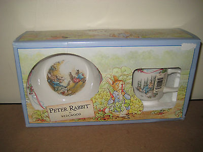 Peter Rabbit Wedgwood Christening Set-Bowl And Cup-New