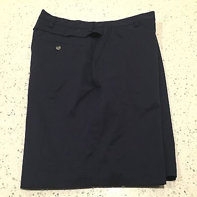 Men's Adidas Golf Shorts Size 36 Flat Front Blue Vented