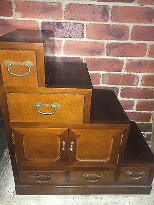 Antique Japanese Step Cabinet Drawers