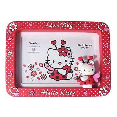 """HELLO KITTY 'LOVEBUG' PICTURE PHOTO FRAME NEW & 100% OFFICIAL 7"""" x 5"""""""