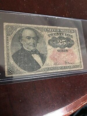 United States 25 Cents Fractional Currency