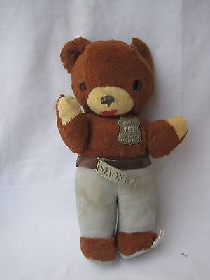 Vintage SMOKEY THE BEAR Ideal Plush DOLL 1960's