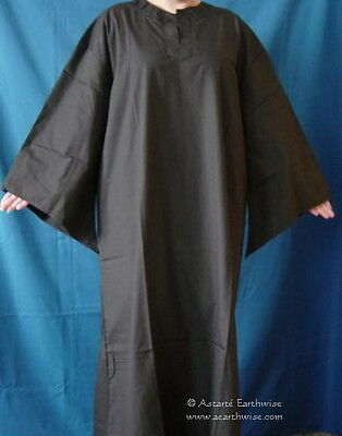 BLACK RITUAL ROBE XL 100% COTTON Wicca Pagan Witch Goth