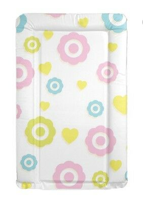 Hearts Flowers Baby Change Mat Padded Raised Sides Changing Mat Wipe Clean