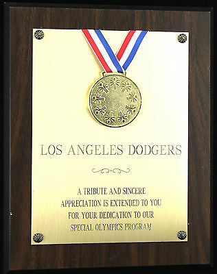 Stan Wasiak King Of The Minors La Dodgers Baseball Plaque Award Special Olympics