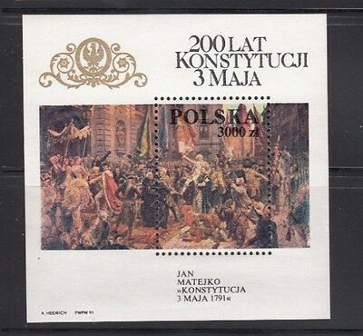 Poland Painting Adoption of Constitution MNH Souvenir Sheet