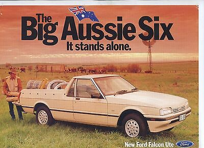 FORD Falcon Ute  1986 Range Sales Brochure