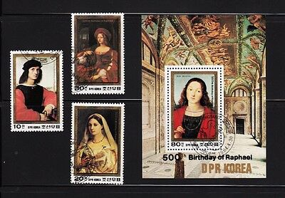 Raphael famous Painting Souvenir Sheet Complete set of 3, Korea