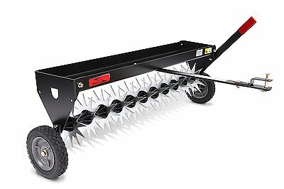 Brinly SAT-40BH Tow Behind Spike Aerator with Transport Wheels 40in Lawn Garden