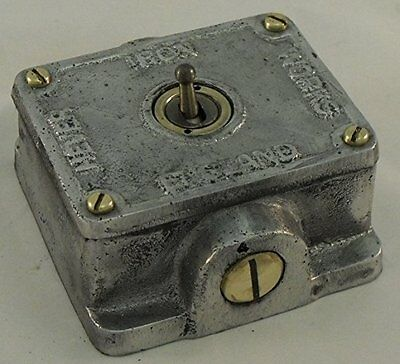 Cast metal vintage industrial switch BSEN approved easy  RETROFIT to box