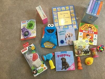 Toddler toy and book collection - 40 items