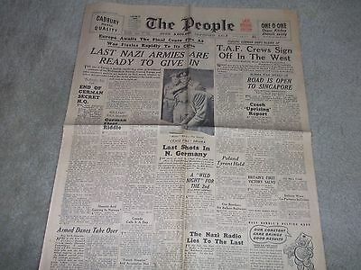 The People Newspaper Sunday May 6, 1945-Last Nazi Armies Ready to Give in