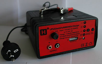 0.5/1/2/3/4Amp, 2-4cells LiPo/LiIon/LiFe, 1-10cells NiMH/NiCd AC/DC Fast Charger