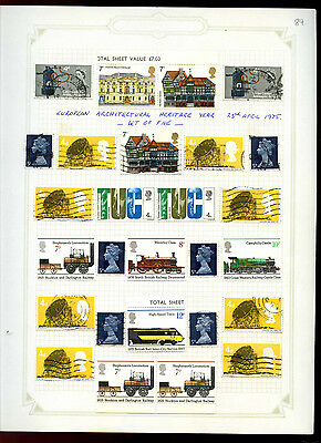 GB Album Page Of Stamps #V5177