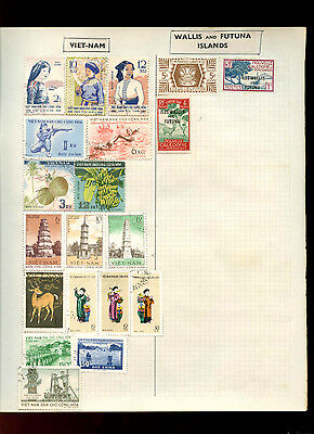 Viet-nam Album Page Of Stamps #V5107