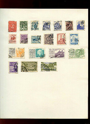 Mexico Album Page Of Stamps #V4982